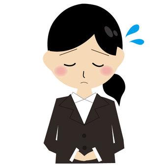Women suits apologize