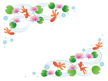 Goldfish and water lily frame