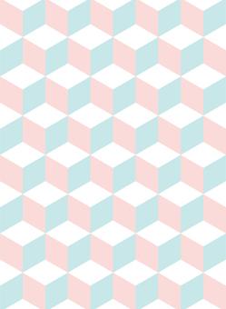 Cube pattern <WINTER CUTE
