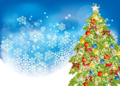 Christmas tree & snow 6
