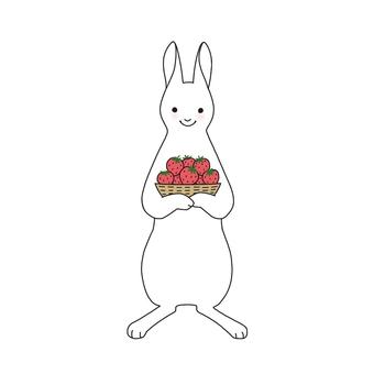 토끼와 딸기