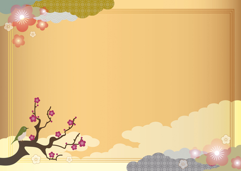 Japanese style background material 16 spring