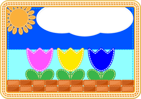 Perforated series Cute background frame