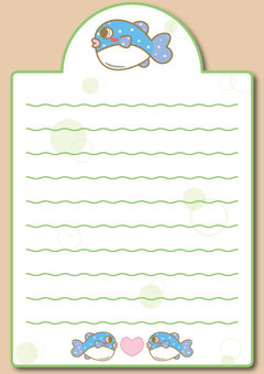 "Blowfish Notepaper 04 ""With envelope"""