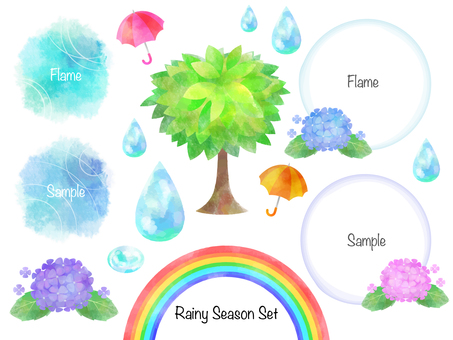 Rainy season set