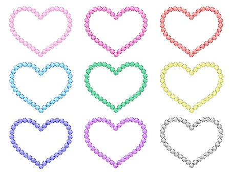 Heart shaped with colored stones