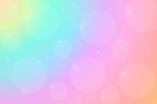 Rainbow colored cream (pastel)