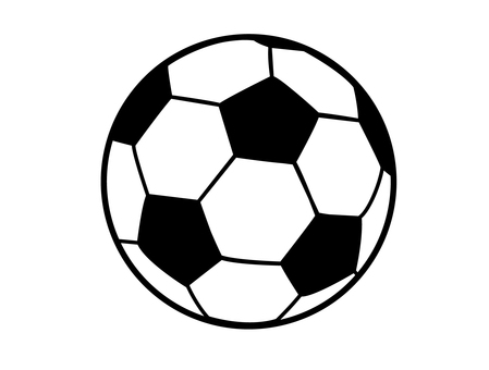 Soccer ball _ simple line drawing