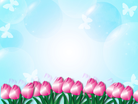 Tulips and soap bubbles