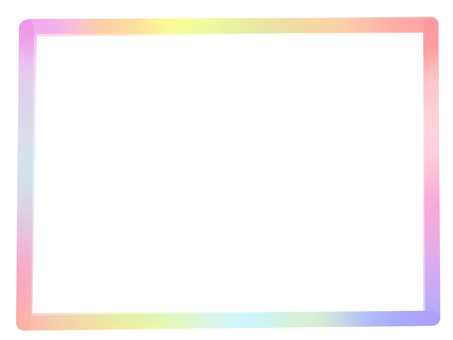 Watercolor style rainbow 【frame】 frame