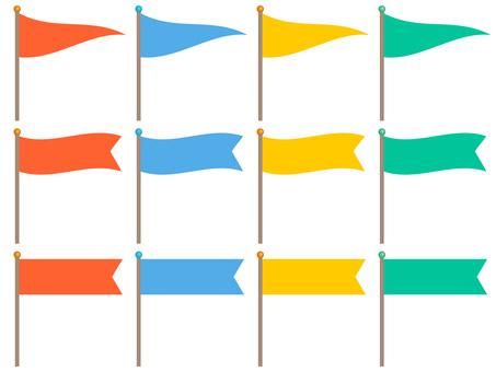 5627. Flag, Horizontal, Triangle 2