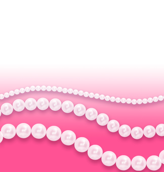Pearl necklace pink background