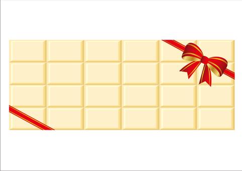 White chocolate background Valentine