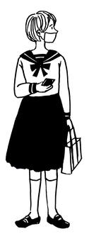 Schoolgirl mask