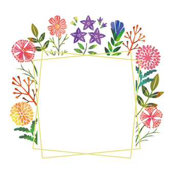 Autumn flower frame