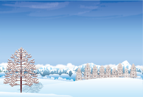 Snowy mountain background background illustration