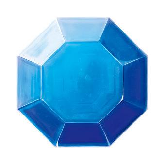 宝石八角型2(青)