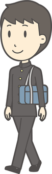 中学生学ラン男性-712-全身