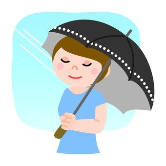 A woman holding a parasol 4