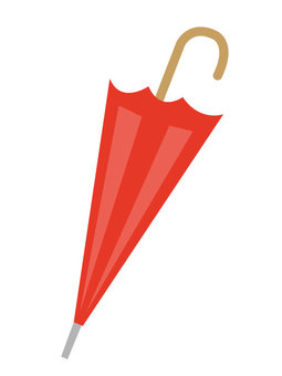 Closed umbrella (red)