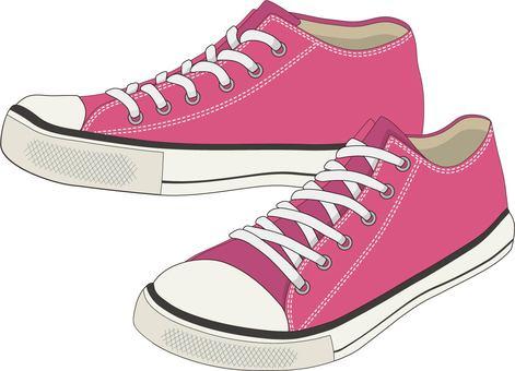 Low-cut sneakers pink