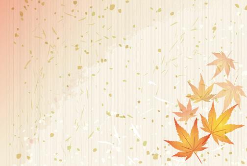 秋もみじ柄挨拶状和紙和風紅葉【葉書比率】