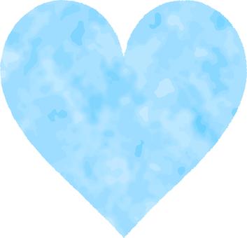 Heart _ watercolor _ 08 _ light blue