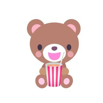 Bear drinking juice