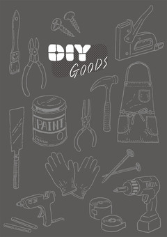 DIY tool set (monochrome)