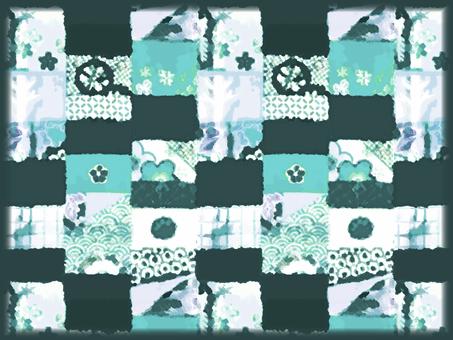 Japanese Pattern Background (Green)