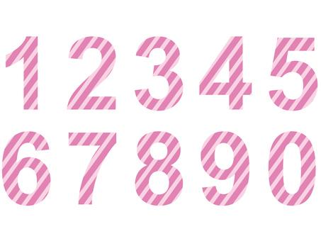 Numbers (pink)