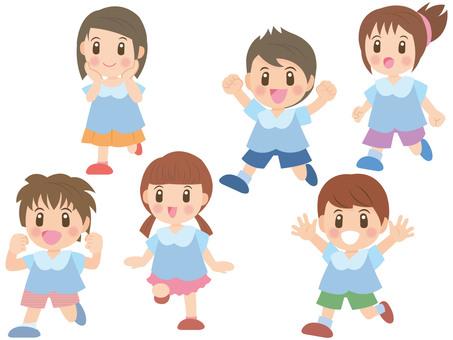 Running children mini B