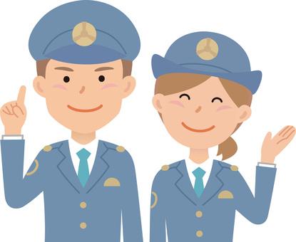 90206. Policeman, Pair 1