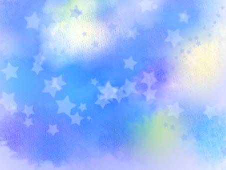 Starry sky sparkling
