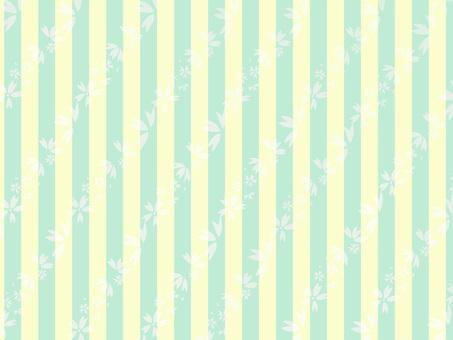 Chiyogami Sakura and vertical stripes (yellow green)