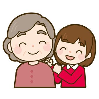 할머니와 소녀