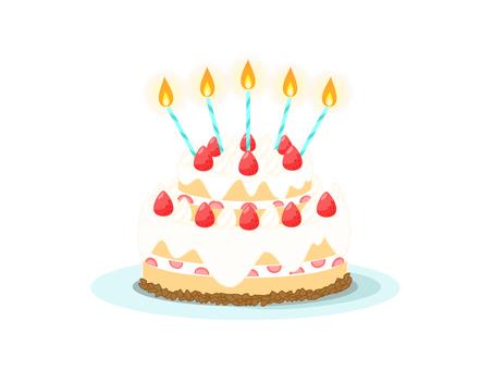 케이크 2 단 (촛불 있음