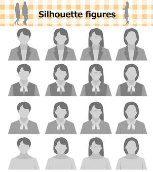 Person face no icon silhouette