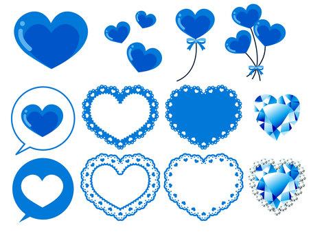Various Heart Material · Blue