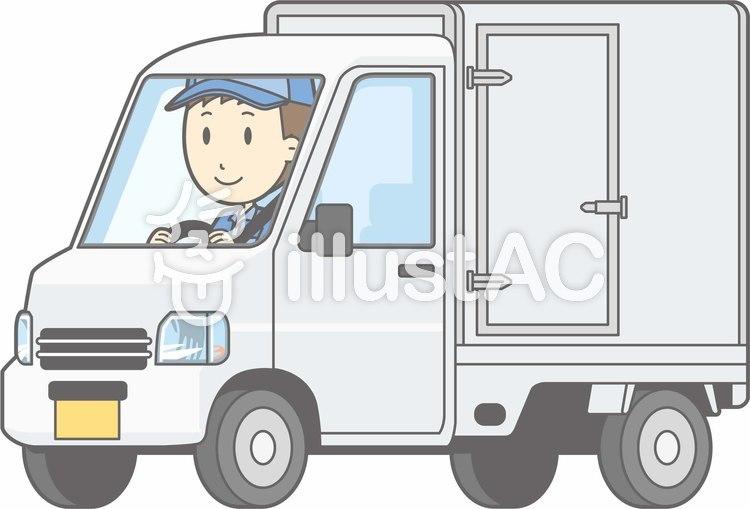 車01-軽トラ2-運転-全身のイラスト