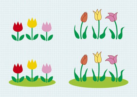 Flower, spring, tulip illustration material