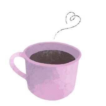 Hand-drawn style coffee