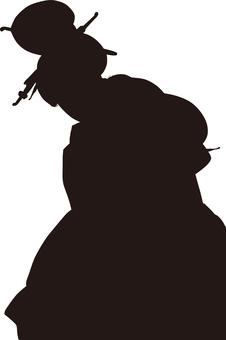 Ukiyo-e character silhouette part 165