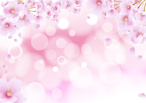 Spring cherry background material 2