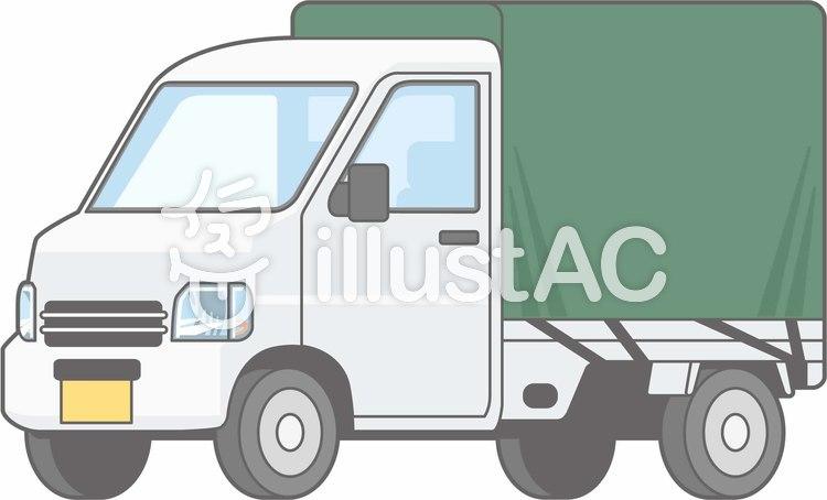 車01-軽トラ3-単品-全身のイラスト