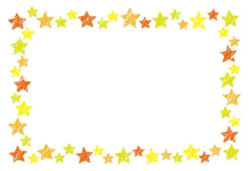Crayon-like star frame 1