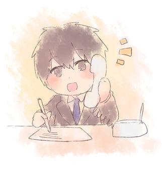 A man who makes a phone call