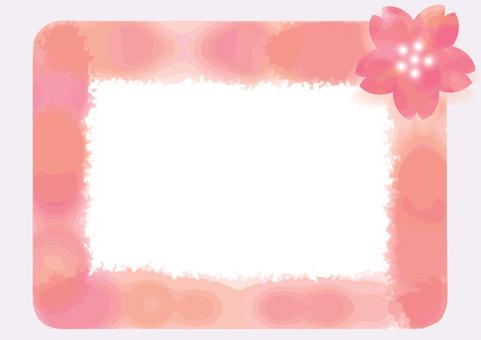 櫻花水彩圖標/框架5