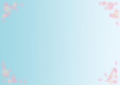 Background material Sakura petals 596