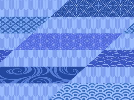 和風の背景素材/青